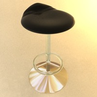 3d gold glass bar stool model