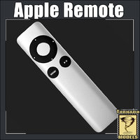 apple remote 3d model