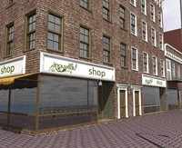 city street citypart building 3d model