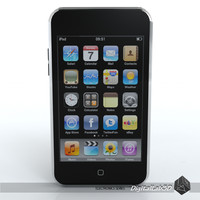 Ipod Touch 2nd gen Low Poly