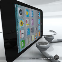 ipod touch 4th 3d model