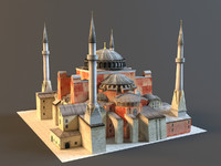 3d istanbul hagia sophia model