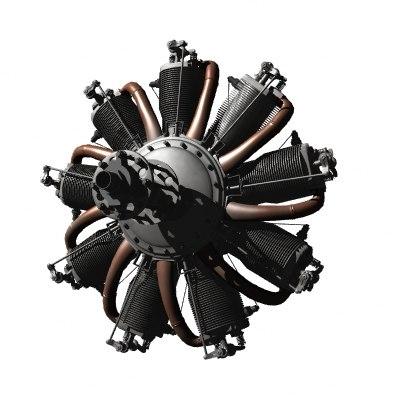 Le Rhone Rotary Engine