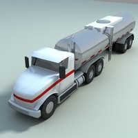 milk-truck truck vehicle 3d model