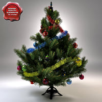 new year tree v7 3d model