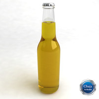 beer bottle 3d dxf