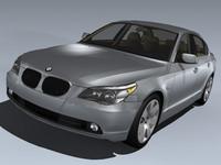 3d bmw 5 series sedan model