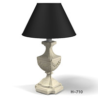 chelini table lamp classic wooden carved  febp1077