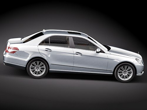 mercedes e class sedan max - Mercedes E class sedan midpoly... by squir