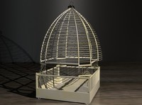 3d model of cage decoration