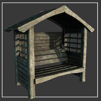 max wooden garden seat