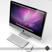 3d model apple imac mac keyboard
