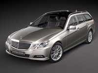 3d model mercedes e class estate