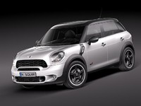 mini cooper countryman 2011 3d model