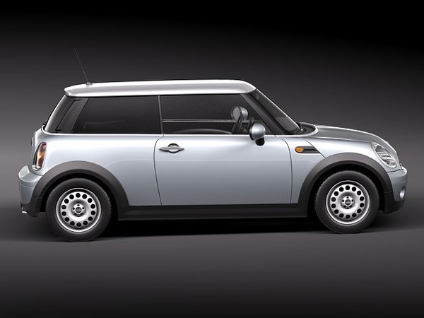 mini morris cooper 3d max - Mini Cooper One... by squir