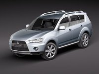 3d model mitsubishi outlander 2011 suv