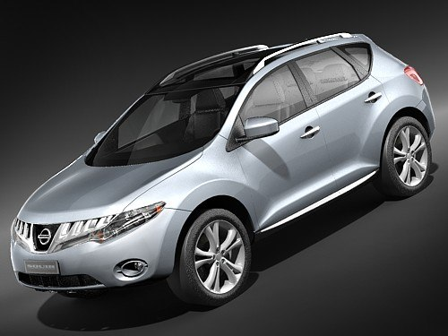 3d model nissan murano 2009 suv. Black Bedroom Furniture Sets. Home Design Ideas