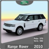 3d 2010 land rover range