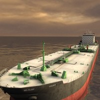 3d supertanker tanker super model
