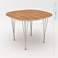 3d tables arne jacobsen model