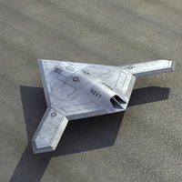 X47B UCAV 3D