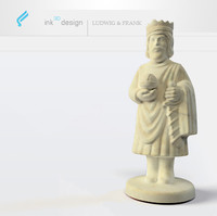 antique chess king 3d max