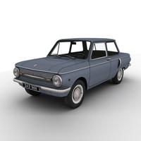 zaz-966 zaporozhets car 3d max