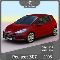 3d model of 2005 peugeot 307