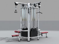 3d gym equipment model
