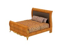 versailles sleigh bed 3d model