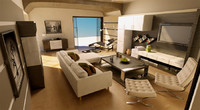 architectural interior house living room 3ds
