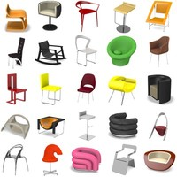 3ds max 25 modern chairs