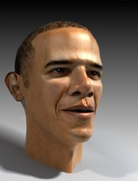 3D_MOdelPresident_Obama_head