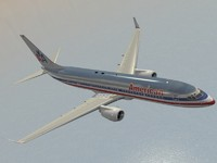 b 737-800 american airlines 3d model