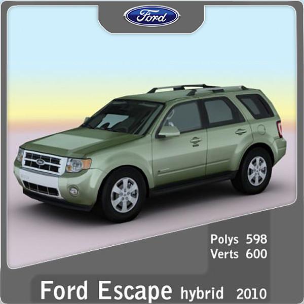2013 Ford Escape Hybrid: 3d 2010 Escape Hybrid Suv Model