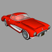 3ds max 1957 corvette car