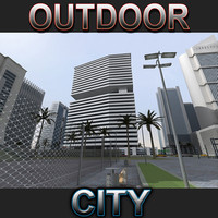 city buildings outdoor 3d max