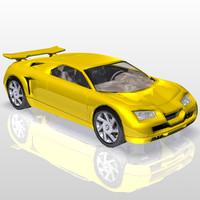 super sports car 3d max
