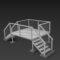 3d freestanding steel deck