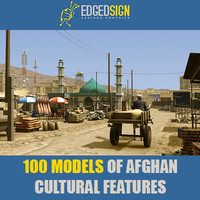 AFGHANISTAN CULTURAL FEATURES 3D LIBRARY