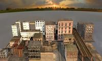 derelict cityscape 3d model