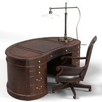 drexel desk work table boss armchair classic traditional