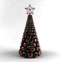 jingle bells christmas tree 3d model