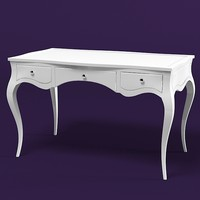 moda poema desk vanity lady table writing classic modern neo art deco