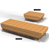 oak design bench 3d model