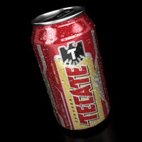 Tecate Beer can - 12 oz