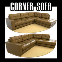 3ds max sectional corner sofa