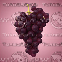 3d red grape model