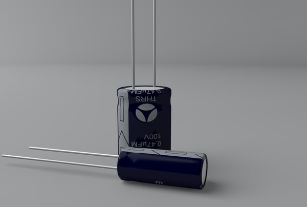 3d model electrolytic capacitors - Electrolytic Capacitors... by Bise