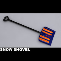 snow shovel 3d model